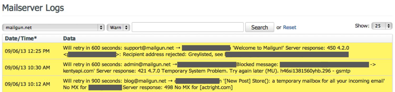 Mailgun Logs UI