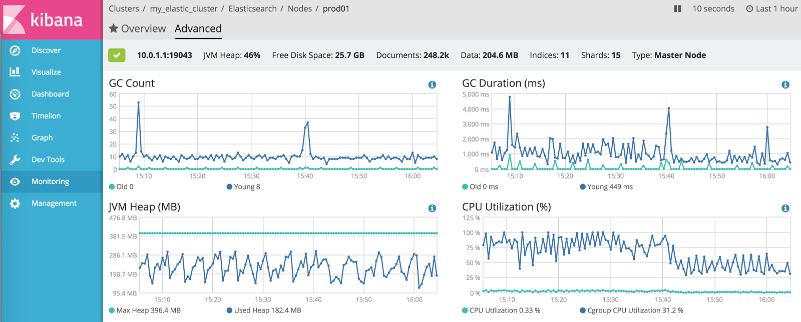 Monitoring Elasticsearch in Containers