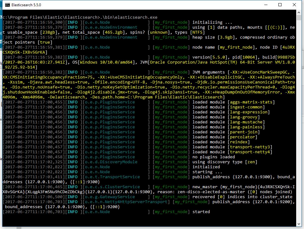 Elasticsearch.exe executable