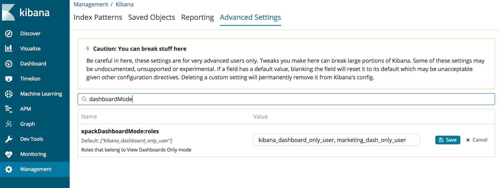 Kibana Dashboard Only Mode | Elastic Blog
